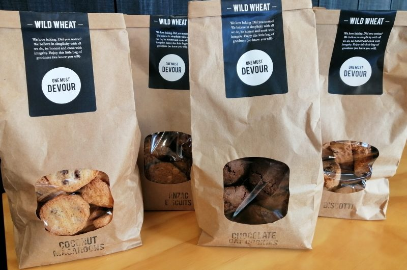Four bags of biscuits