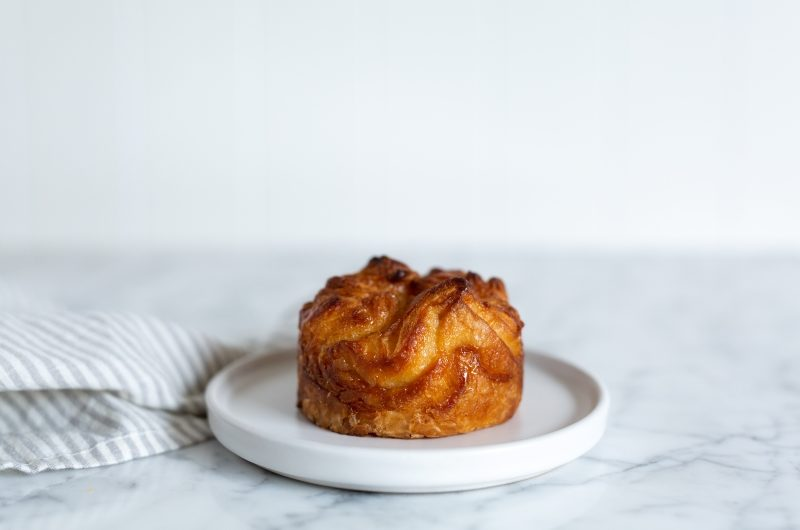 Kouign Amann pastry on a plate