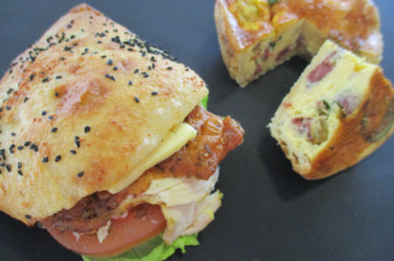 July's Gourmet Sandwich and Seasonal Quiche